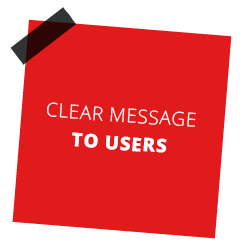 Clear Message To users